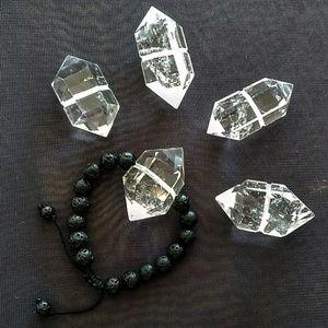 Custom Double Terminated Crystal Macreme